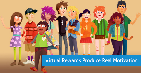 virtual rewards for motivating students